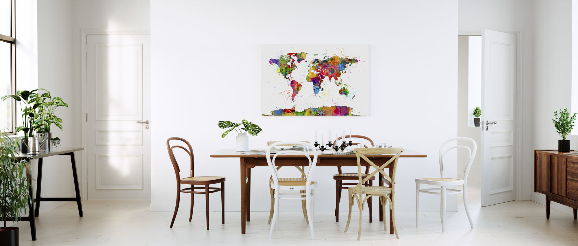 Paint Splashes Map 2 - Canvas print - Kitchen