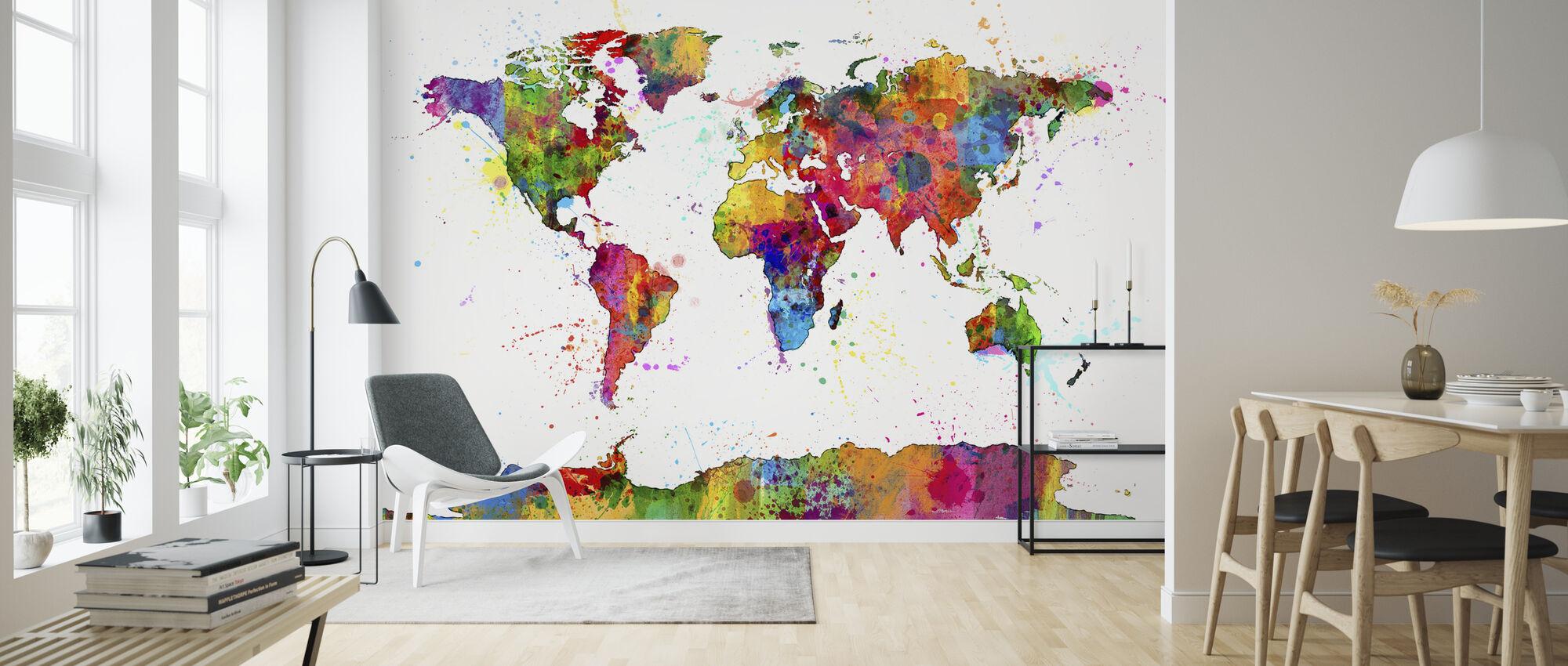 Spatten Map 2 schilderen - Behang - Woonkamer