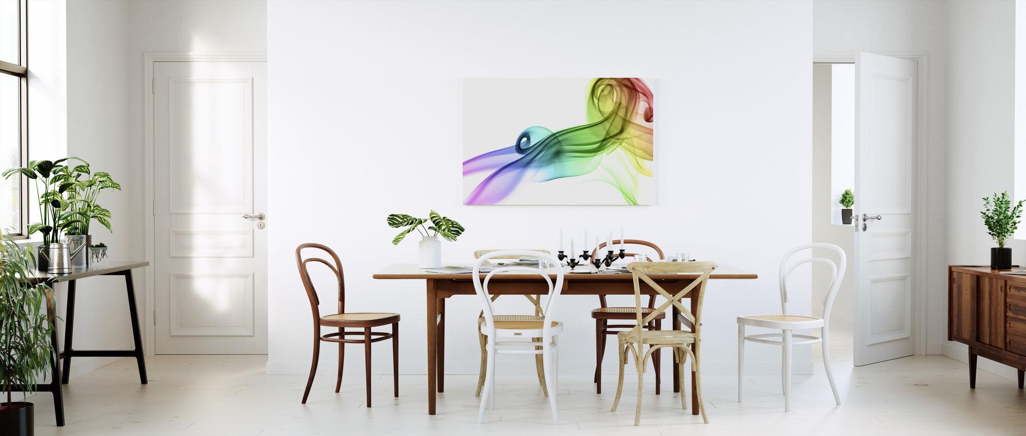Colored Smoke - Canvas print - Kitchen