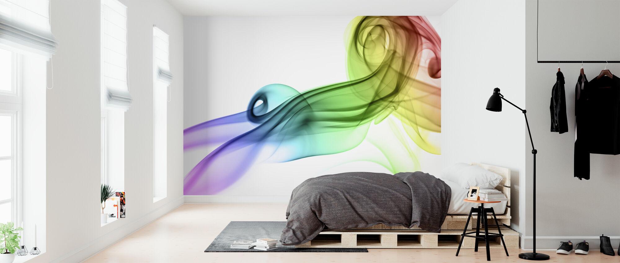 Värillinen savu - Tapetti - Makuuhuone