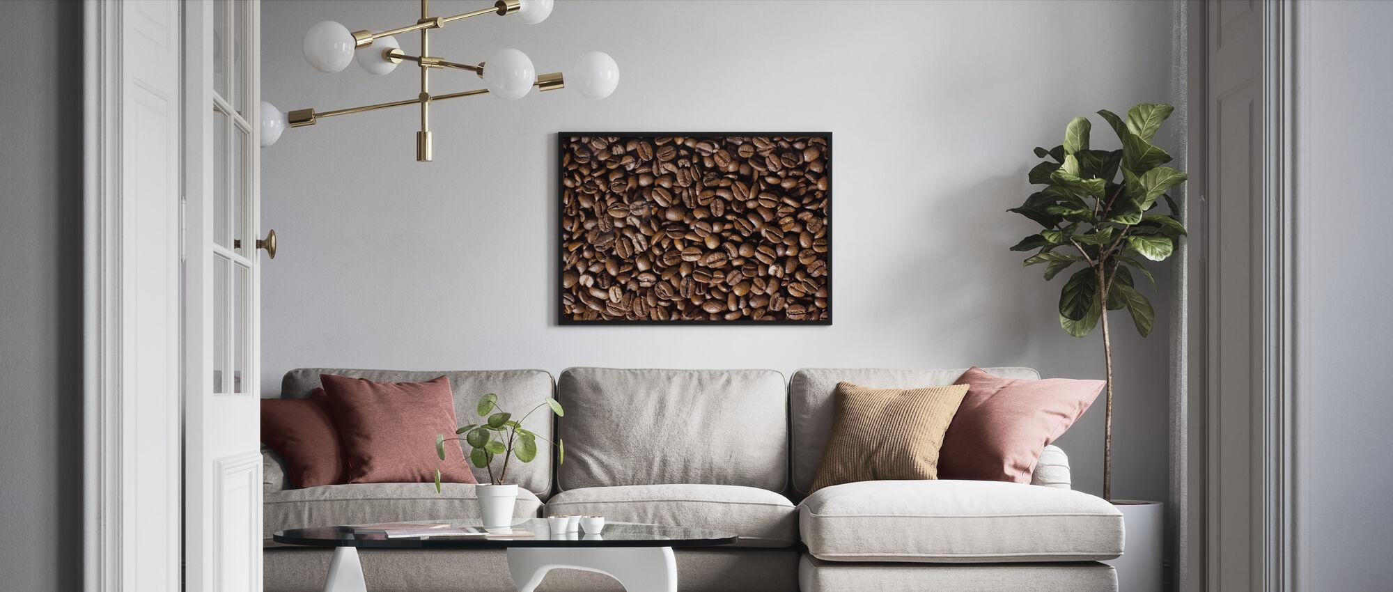 Koffiebonen - Ingelijste print - Woonkamer