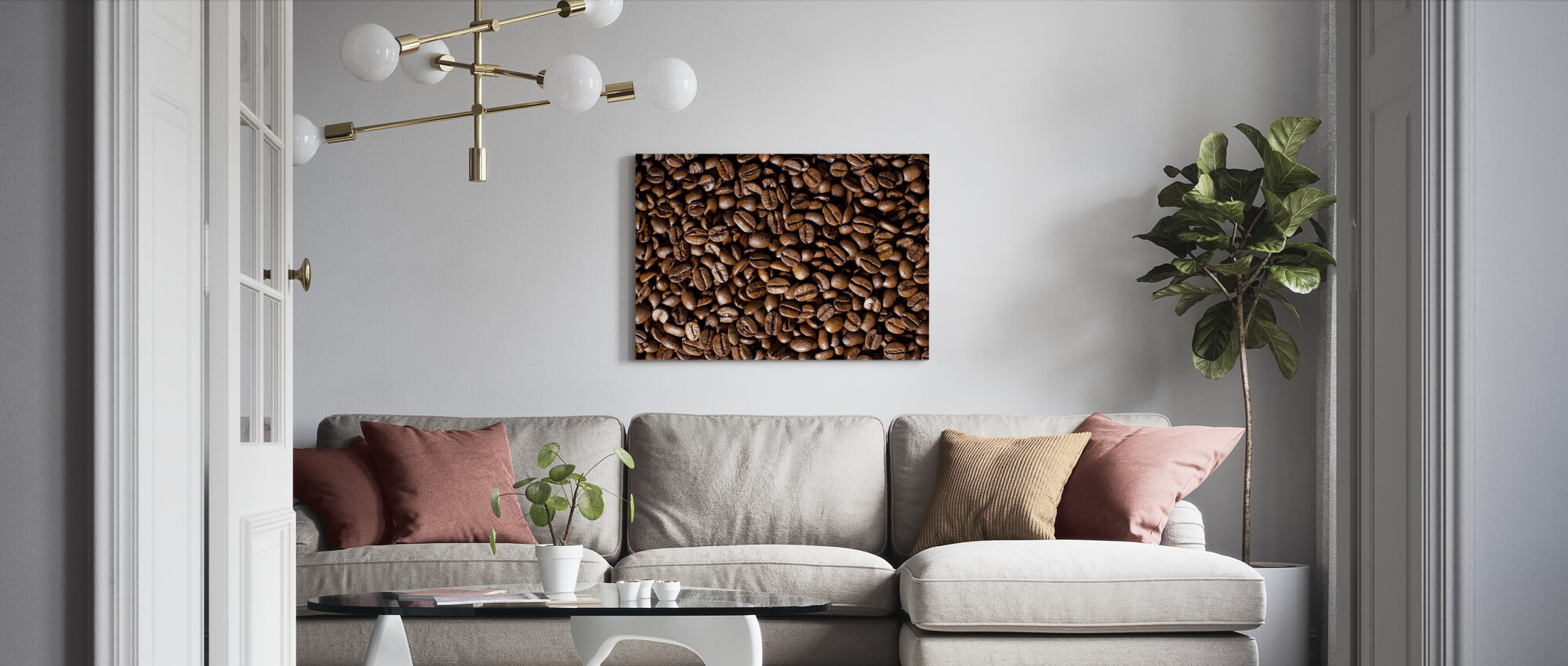 Kaffebønner - Lerretsbilde - Stue