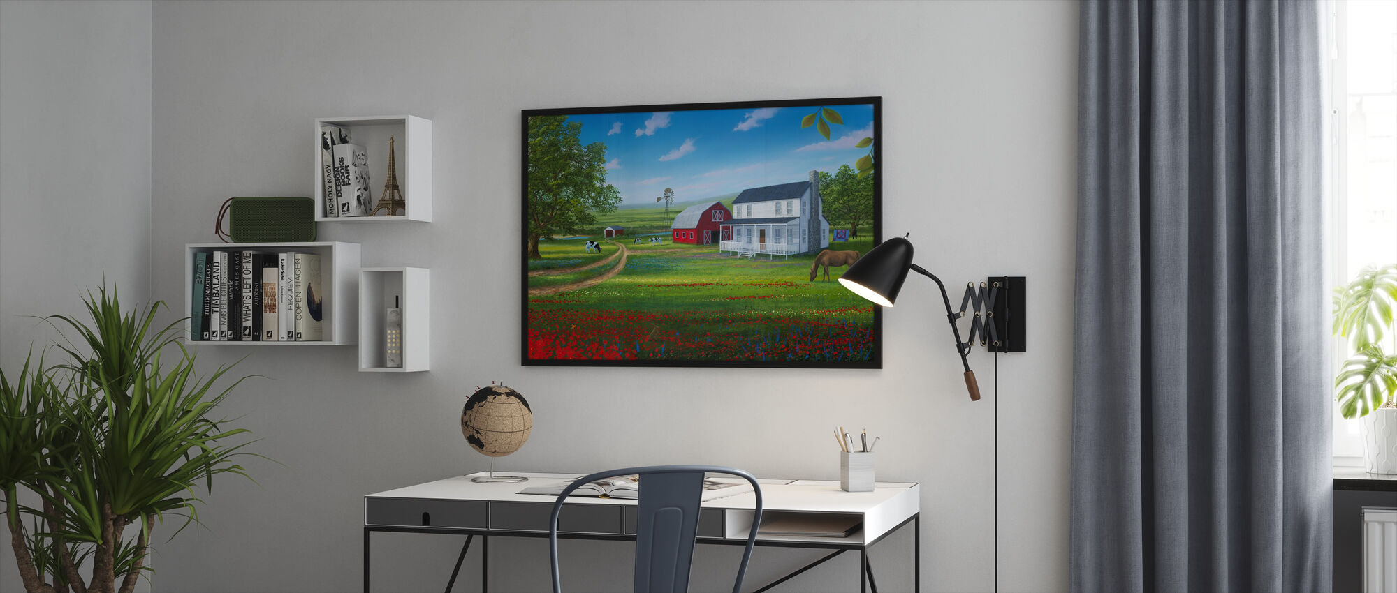 Country Living - Framed print - Office