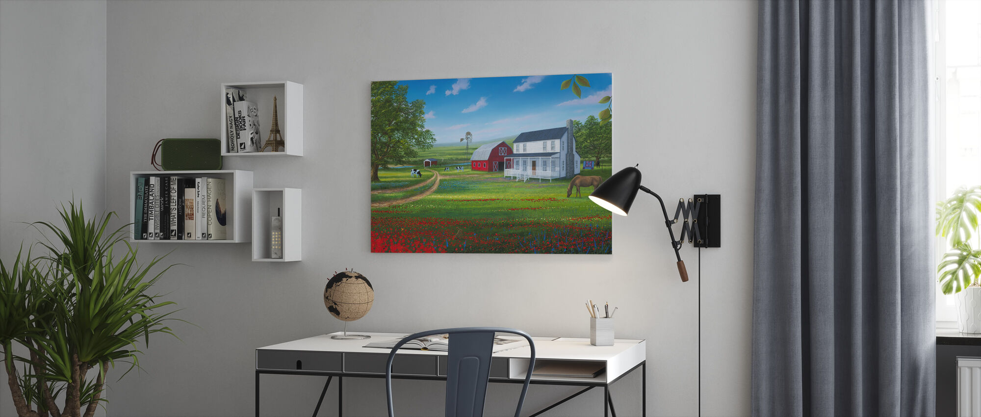 Country Living - Canvas print - Office