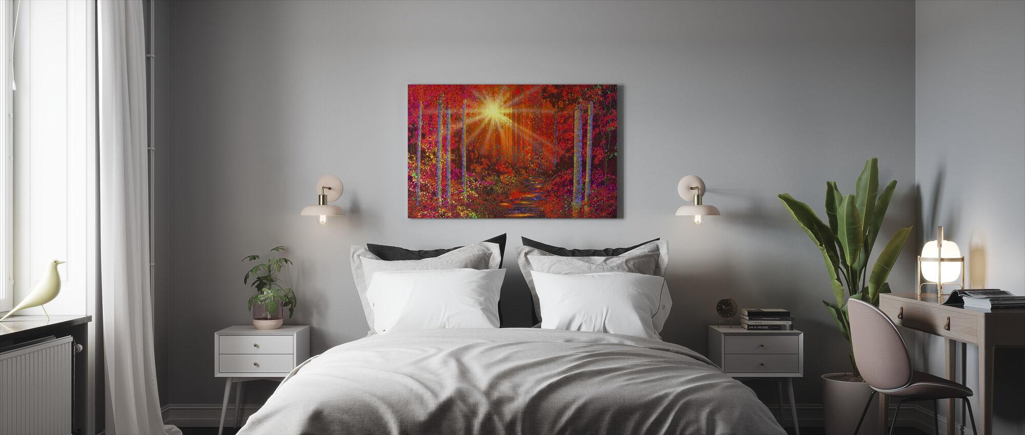 Crimson metsä - Canvastaulu - Makuuhuone