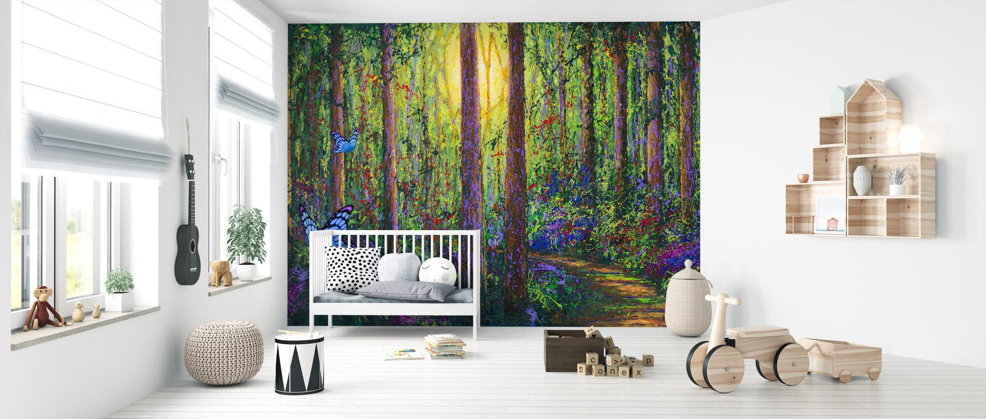 Skov Sommerfugle - Tapet - Babyværelse