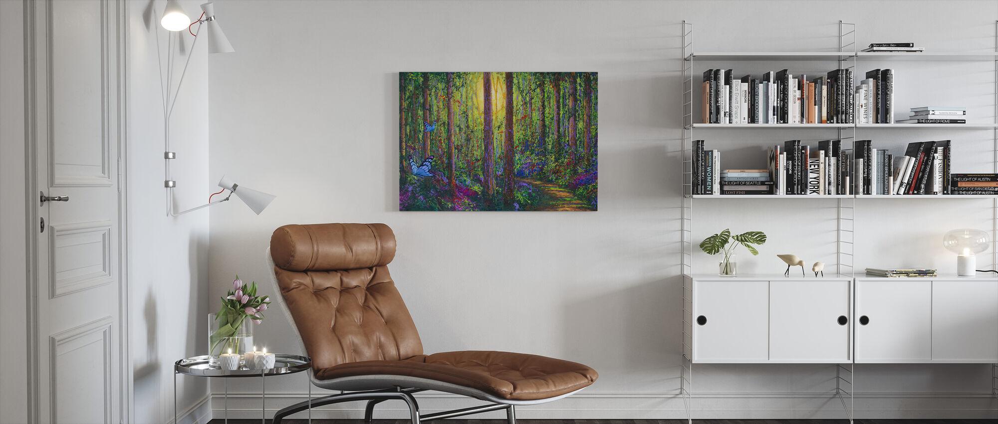 Skogsfjärilar - Canvastavla - Vardagsrum