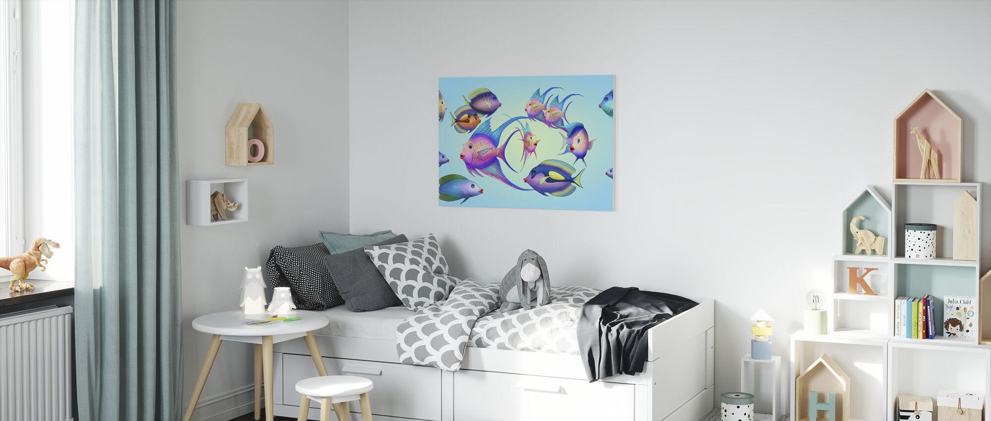 Fun Fish - Canvas print - Kids Room