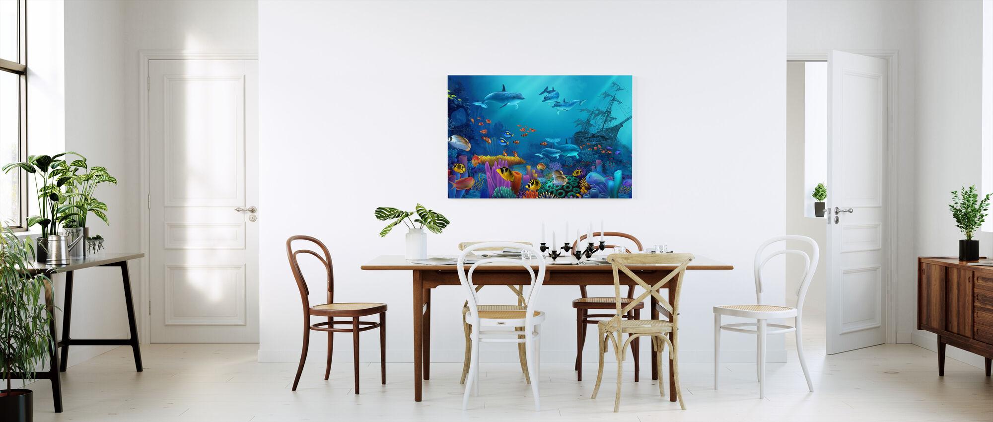 Ocean färger - Canvastavla - Kök