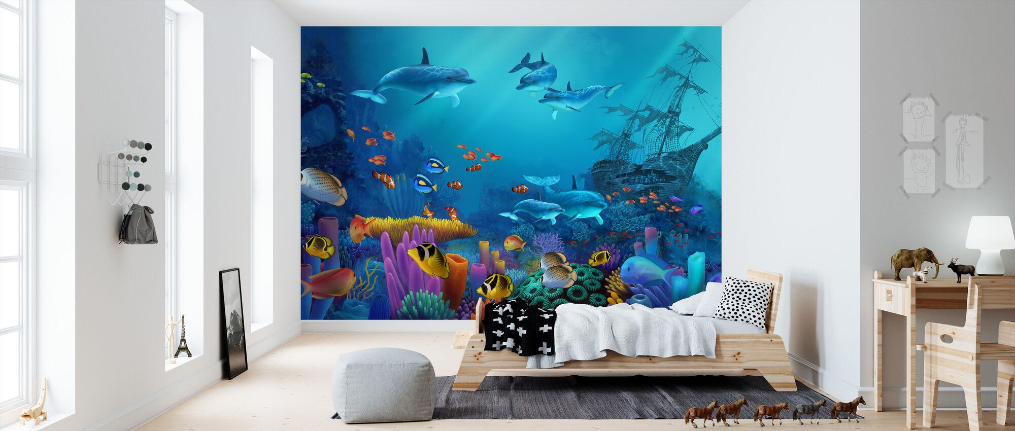 Ocean färger - Tapet - Barnrum