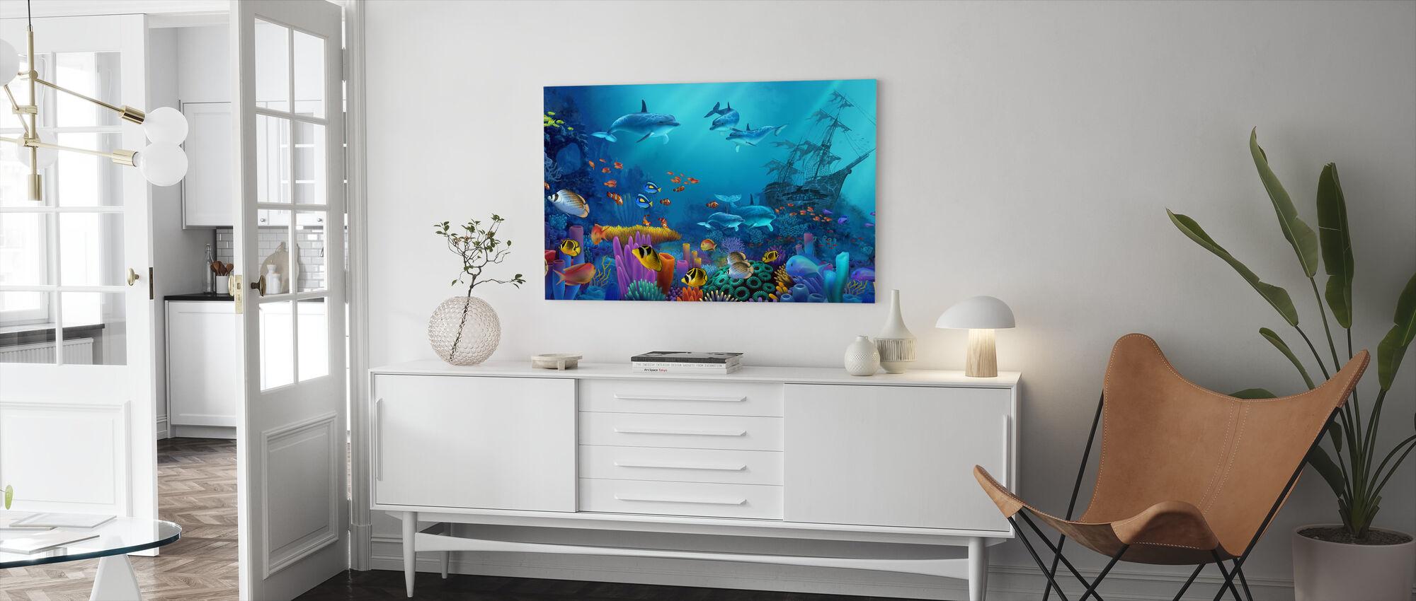 Ocean färger - Canvastavla - Vardagsrum