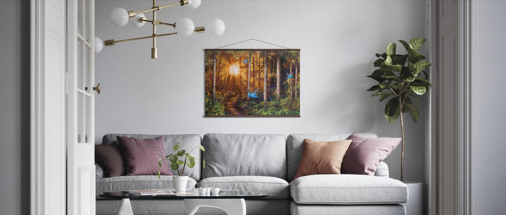 Lichtstralen - Poster - Woonkamer