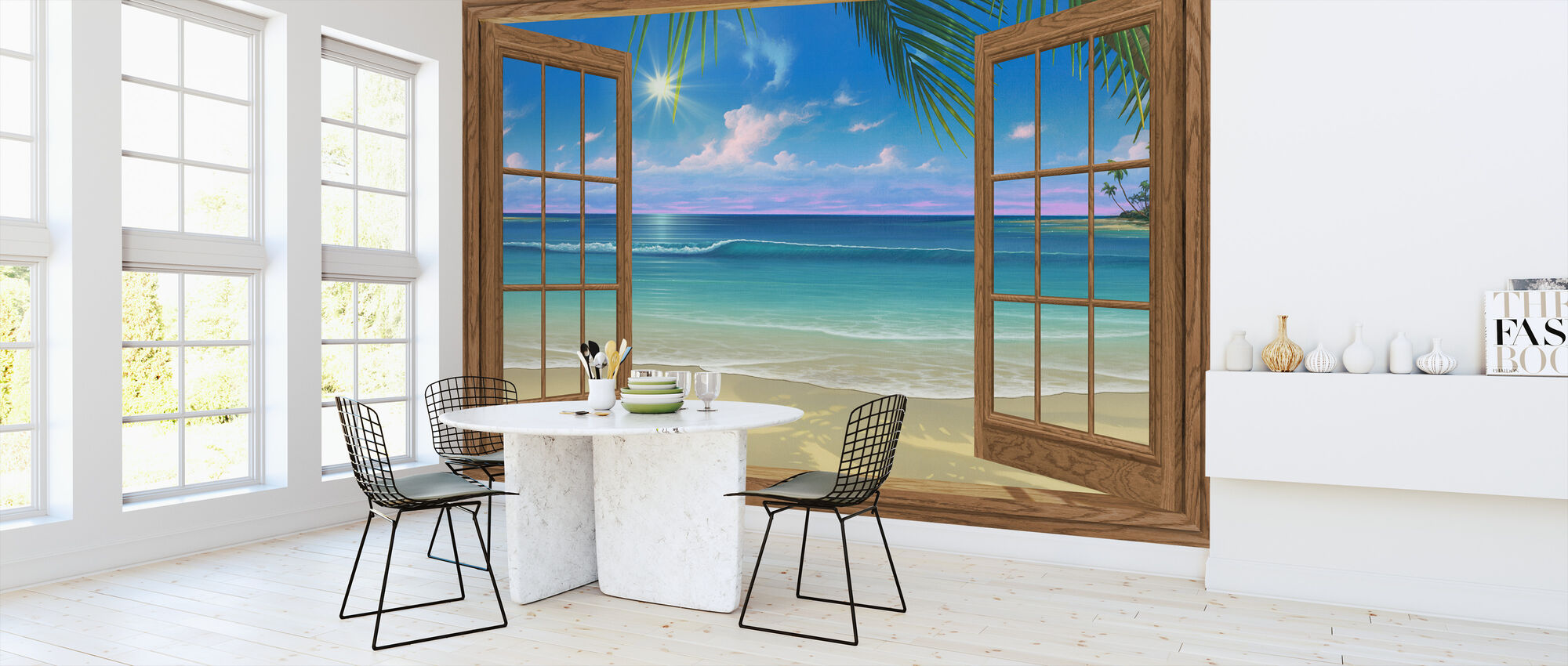 View of Paradise - Wallpaper - Kitchen