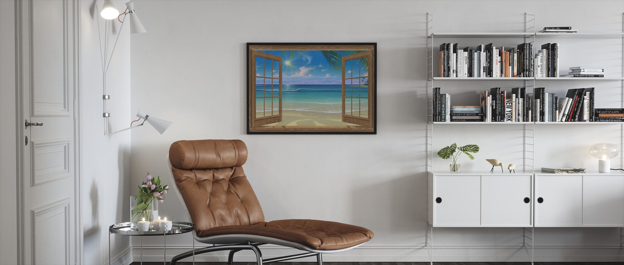 View of Paradise - Framed print - Living Room