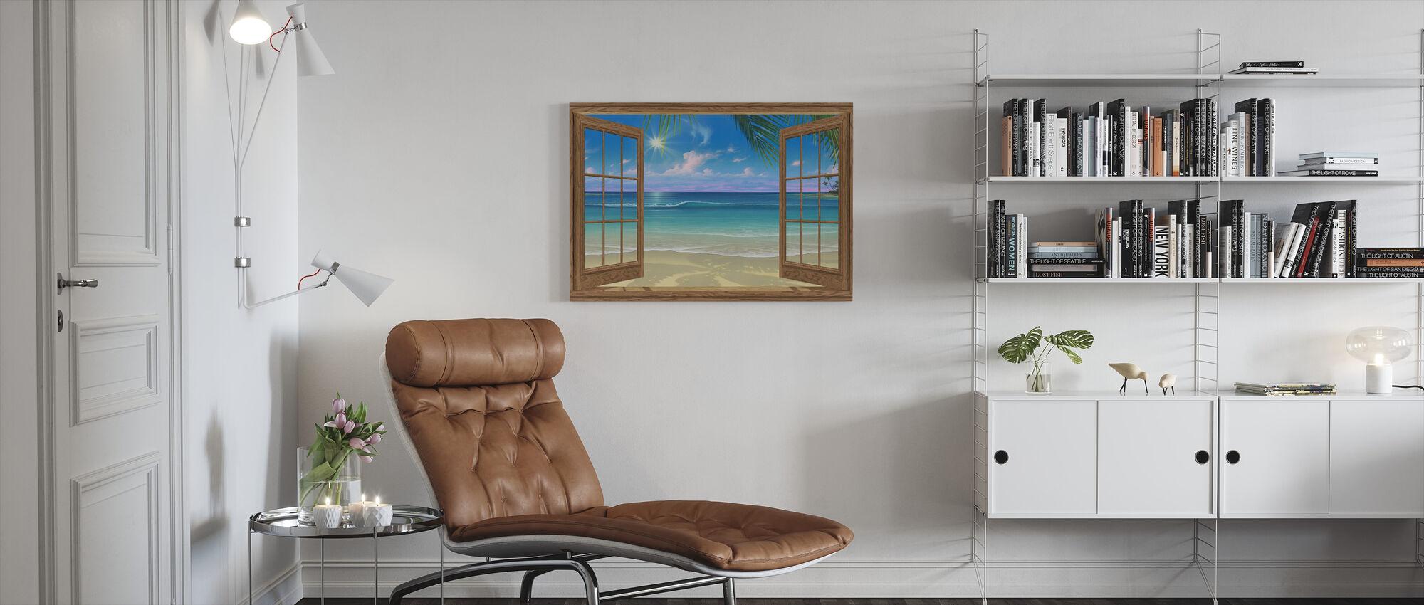 Gezicht op het Paradijs - Canvas print - Woonkamer