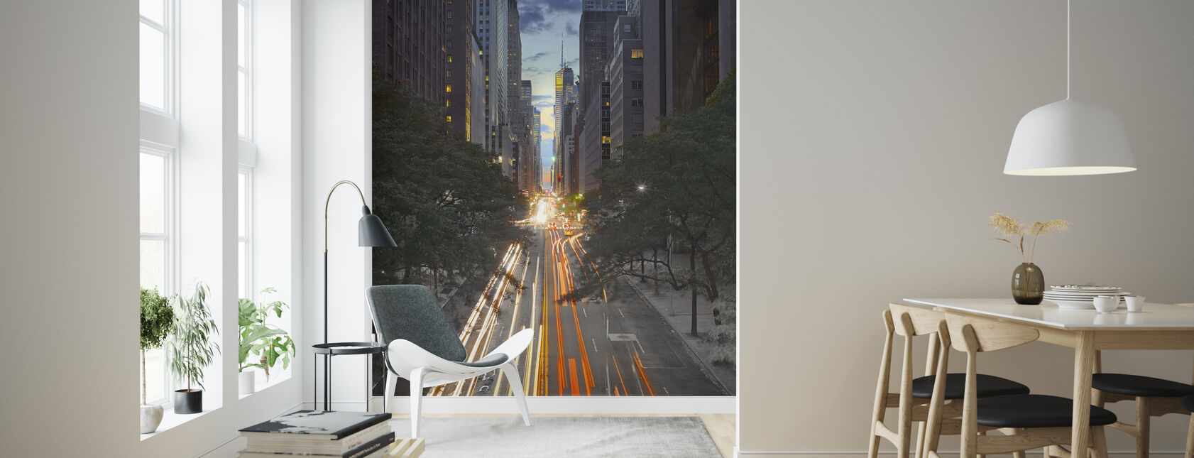 42 St Canyon New York City - Wallpaper - Living Room