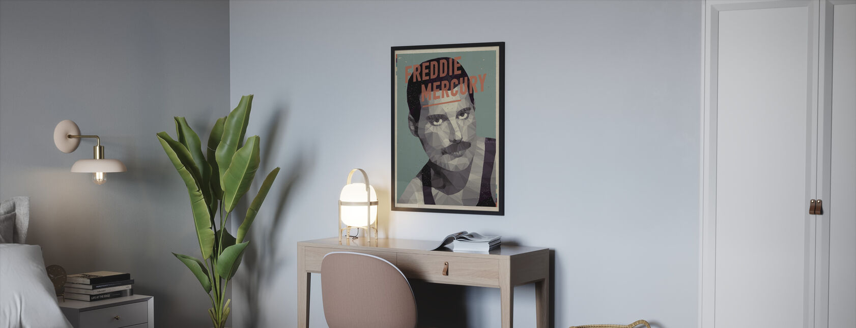 The show must go on - Framed print - Bedroom