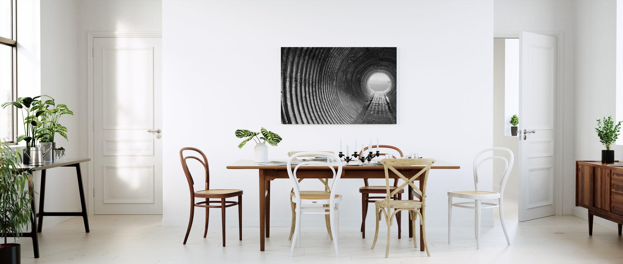 Gegolfde tunnel - Canvas print - Keuken