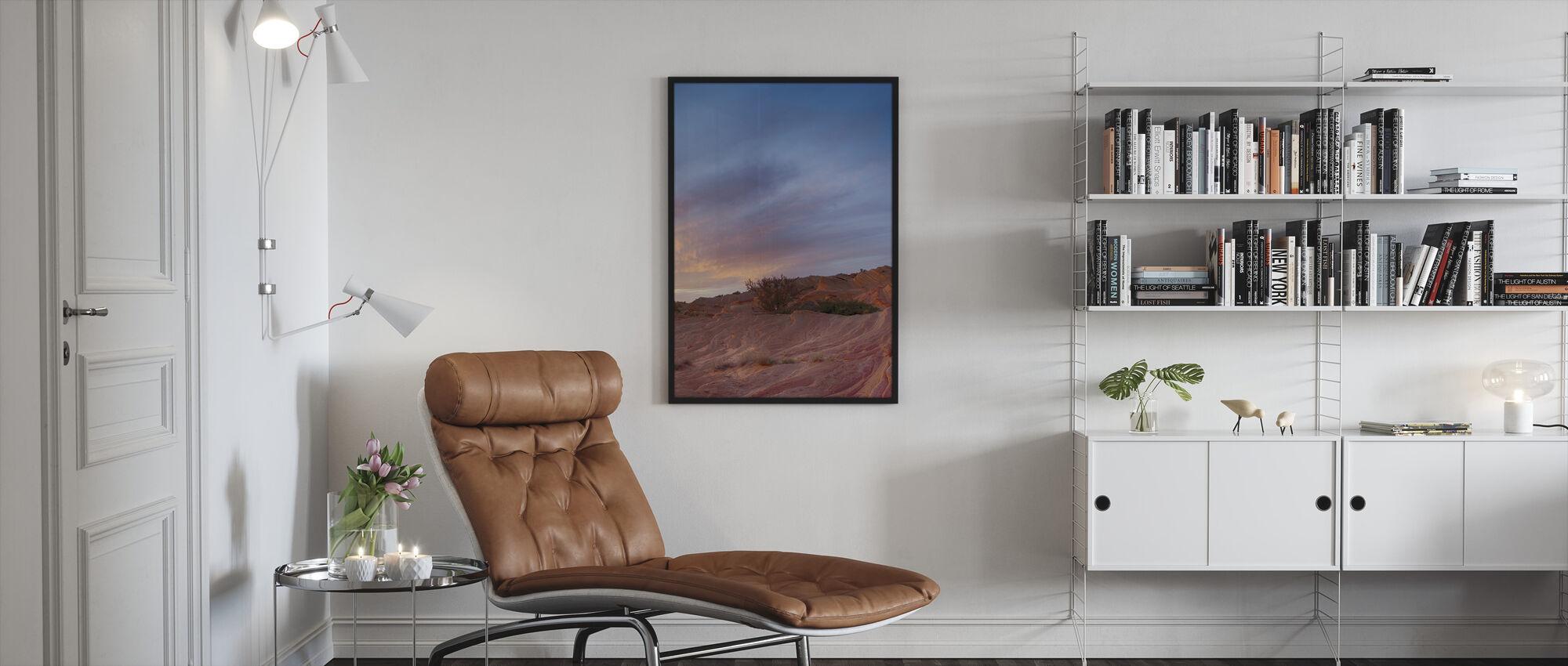 Aavikon kohtaus - Kehystetty kuva - Olohuone