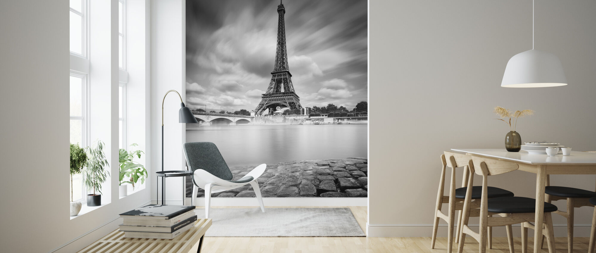 Eiffel Tower Study - Wallpaper - Living Room
