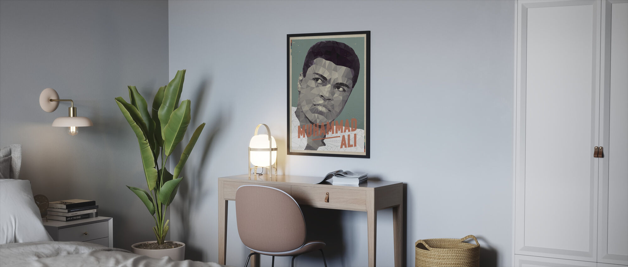 Float Like a Butterfly - Sting Like a Bee - Framed print - Bedroom