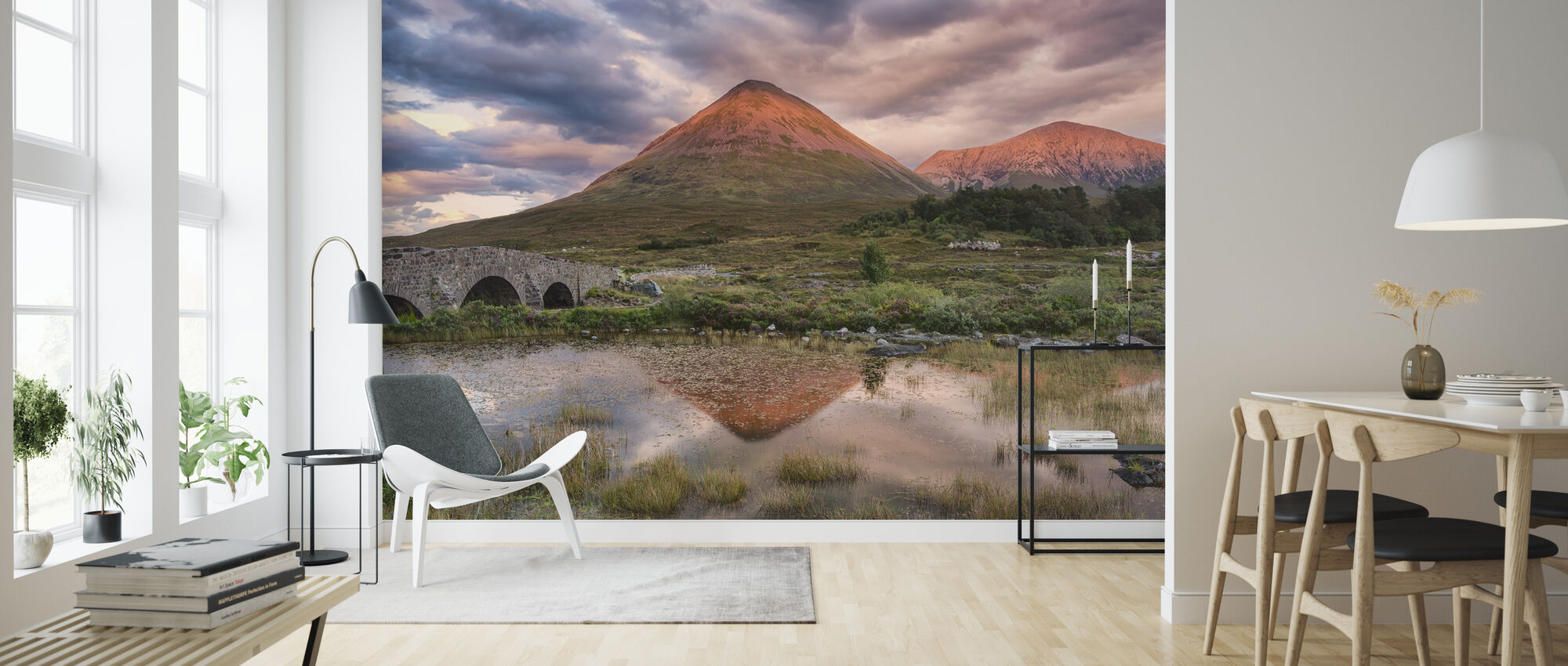 Glamaig Sunset - Wallpaper - Living Room