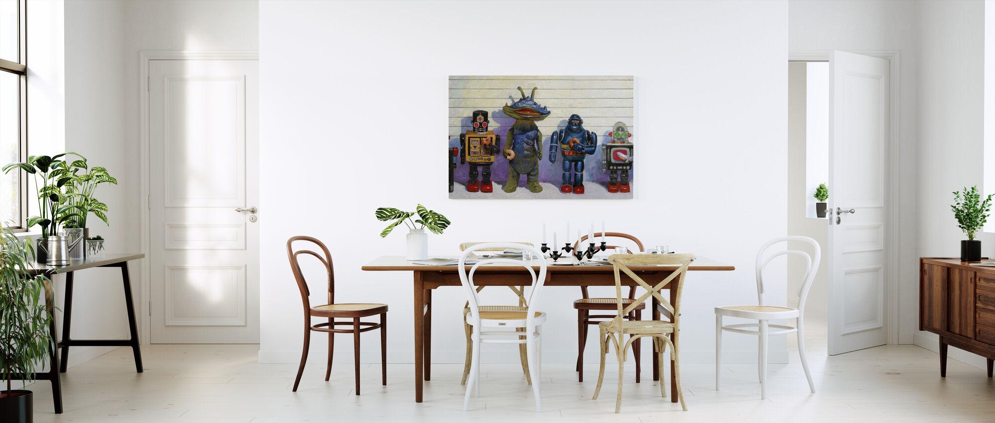 Line Up - Canvas print - Kitchen