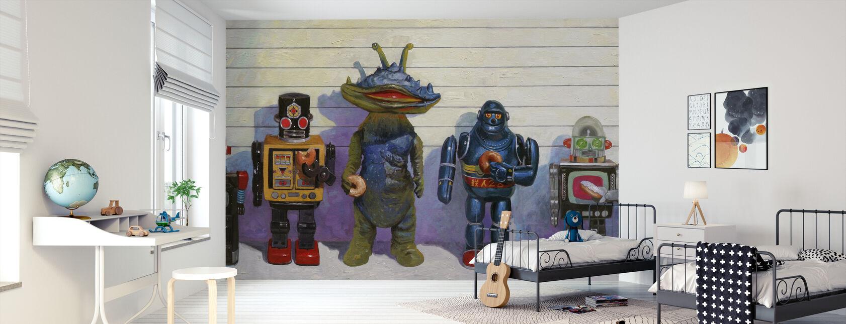 Line Up - Wallpaper - Kids Room