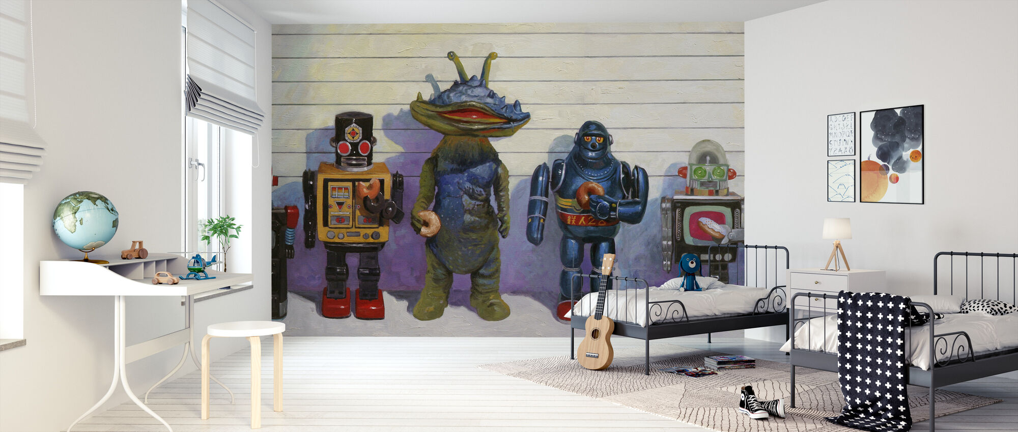 Line Up - Wallpaper - Kids Room