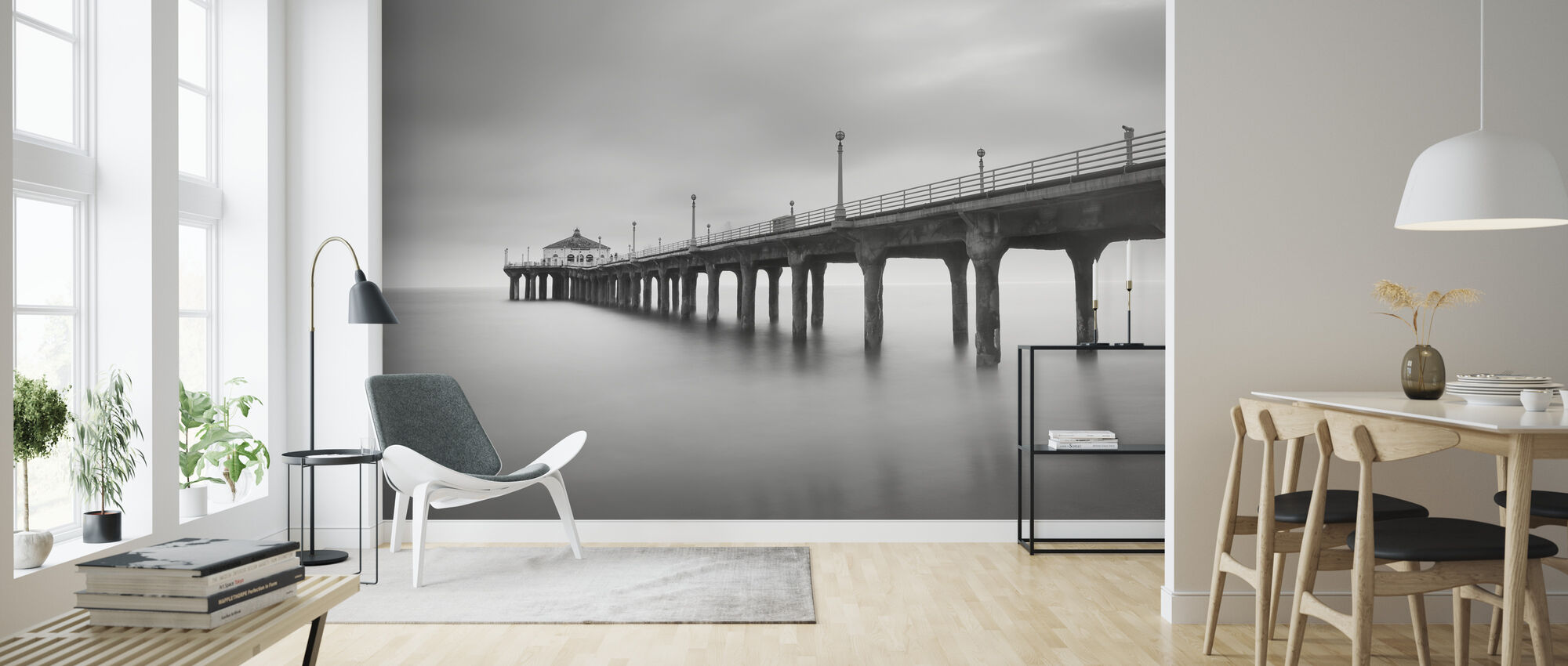 Manhattan Pier - Wallpaper - Living Room