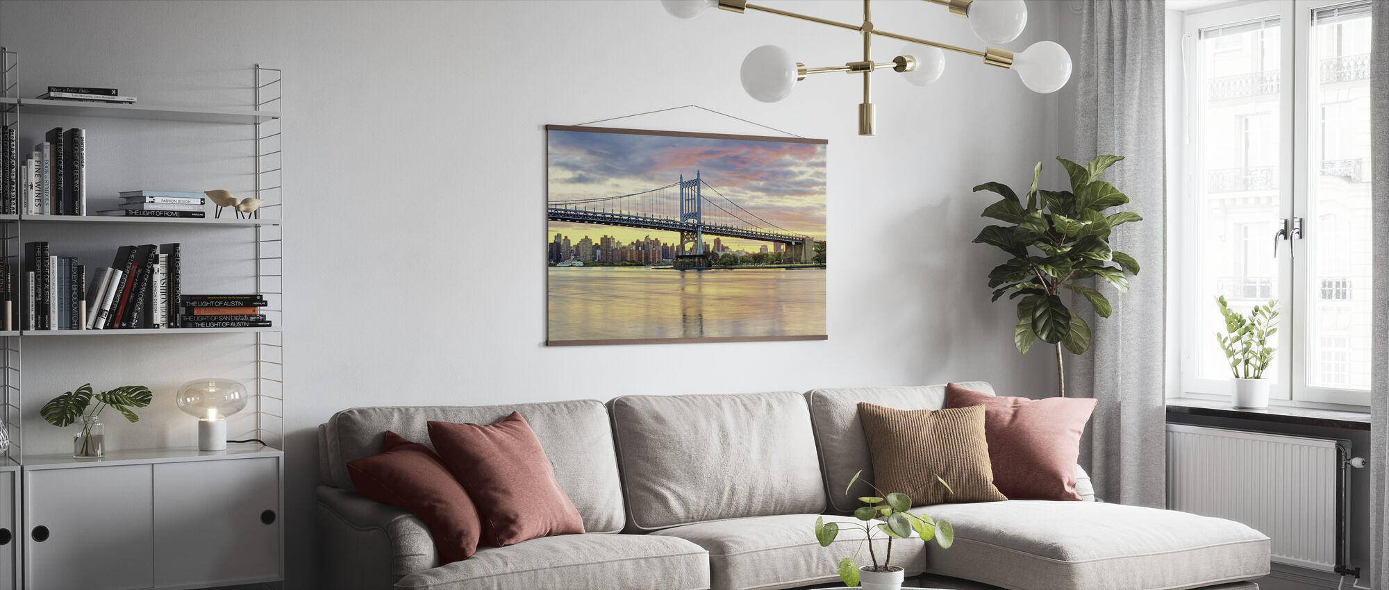 East River Sunset - Poster - Living Room