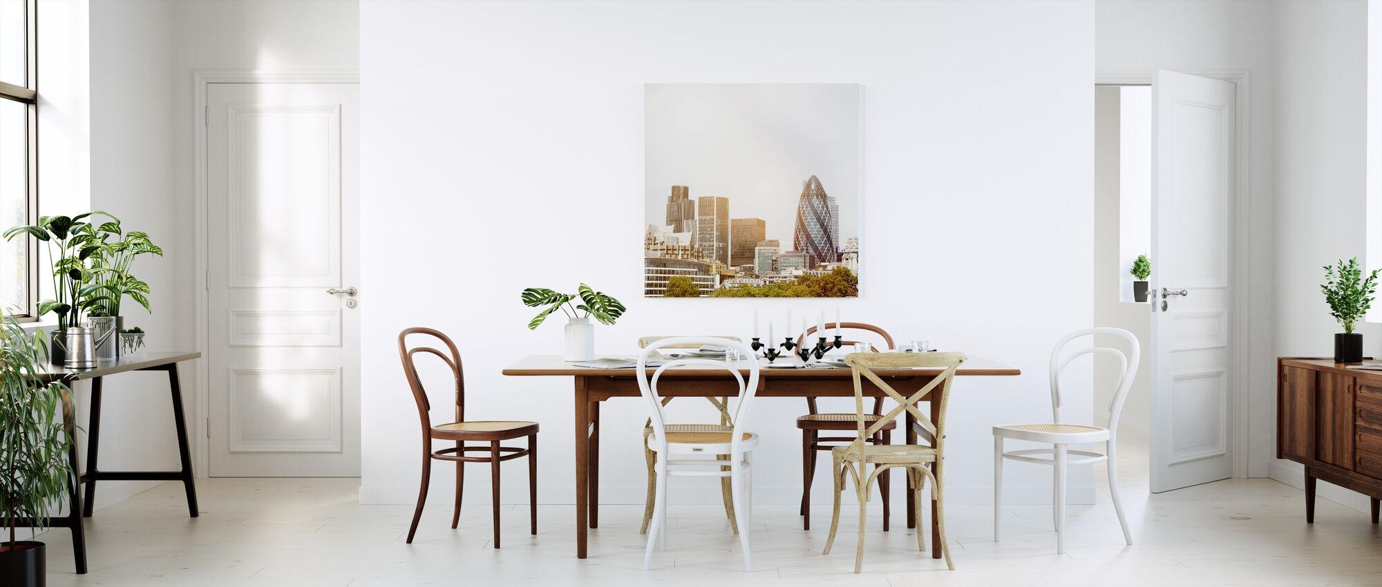 London Skyline at Daybreak - Canvas print - Kitchen