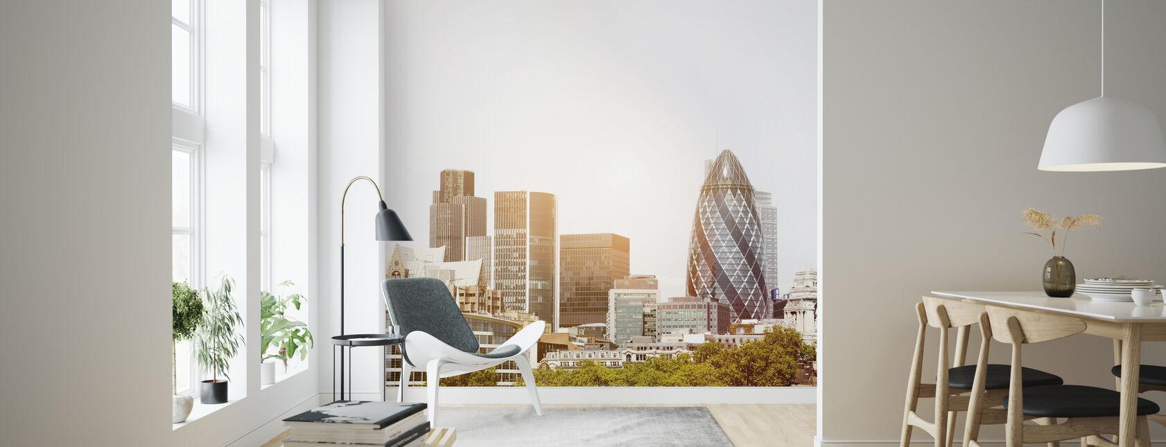 London Skyline at Daybreak - Wallpaper - Living Room