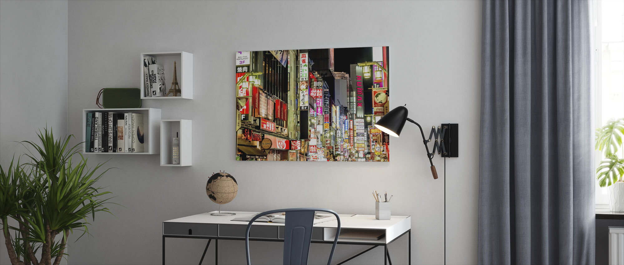 Nachtstraat in Tokio - Canvas print - Kantoor