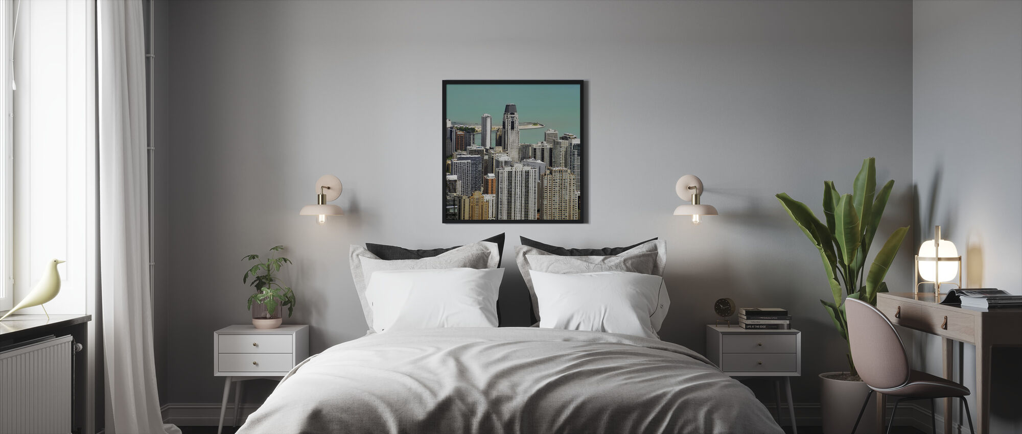 Chicago and Lake Michigan - Framed print - Bedroom