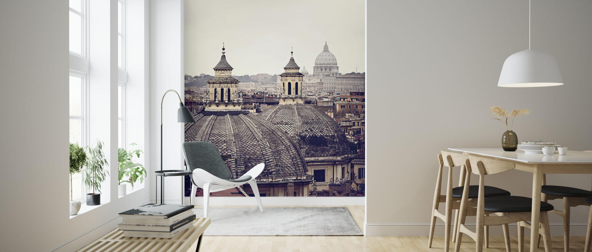 Koepels van Rome - Behang - Woonkamer