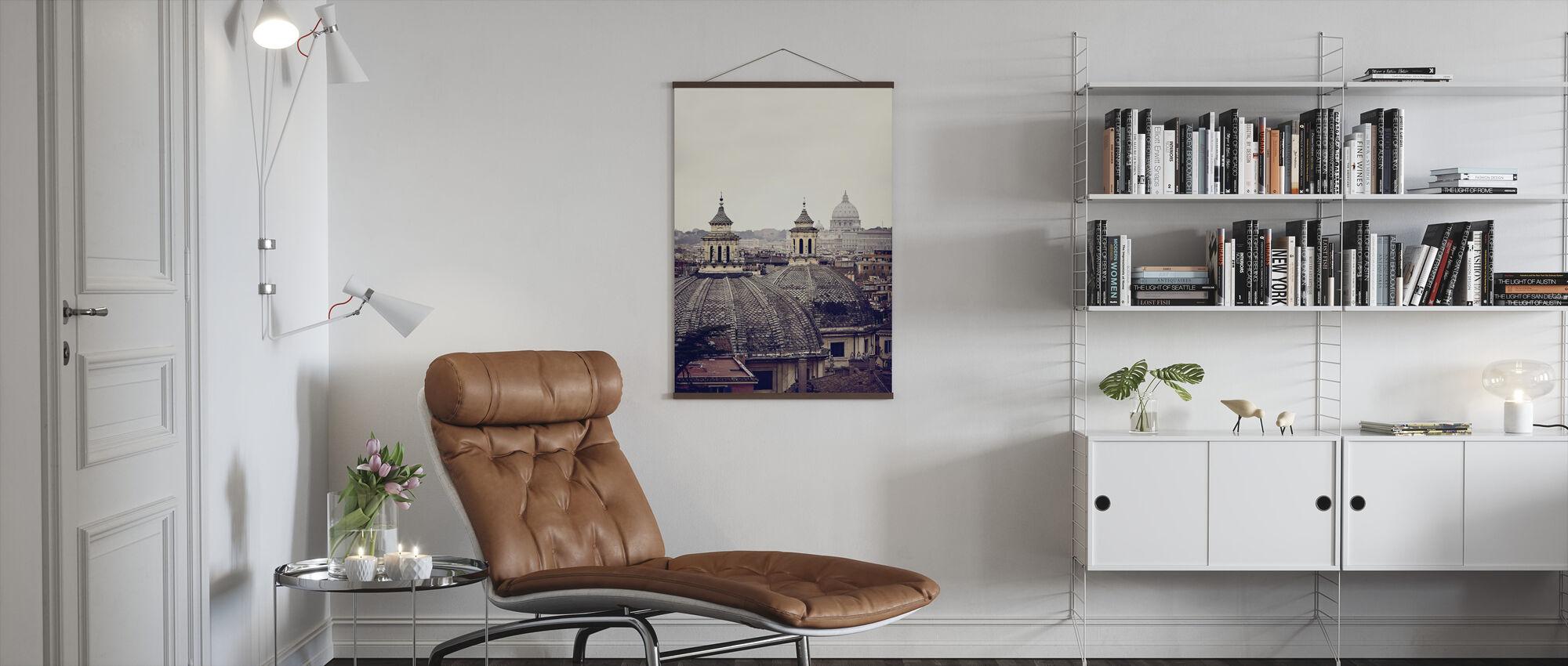 Koepels van Rome - Poster - Woonkamer