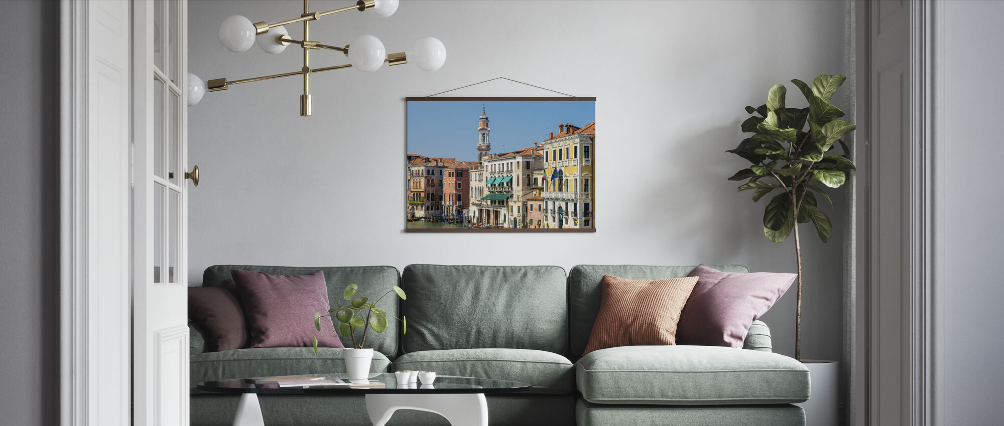 View from Rialto Bridge - Poster - Living Room