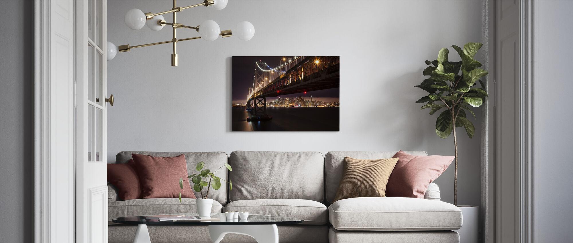 Bay-broen i natten - Lerretsbilde - Stue