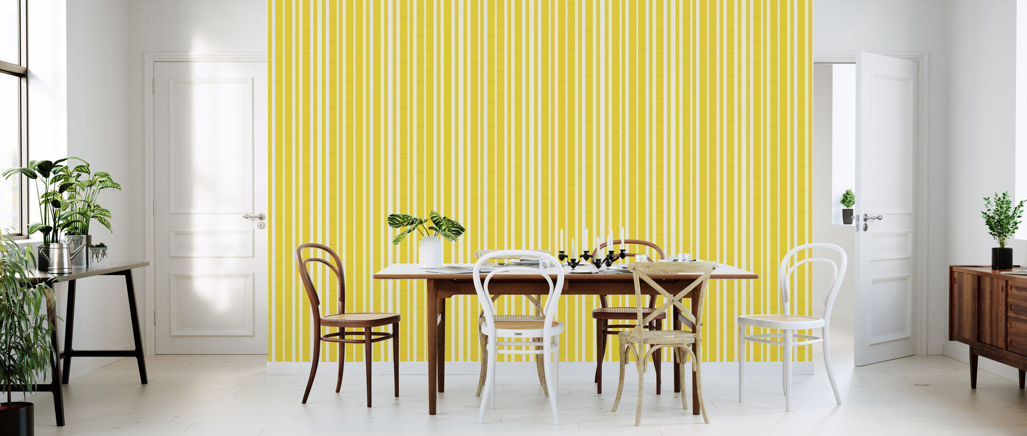 Bambu - Yellow - Wallpaper - Kitchen