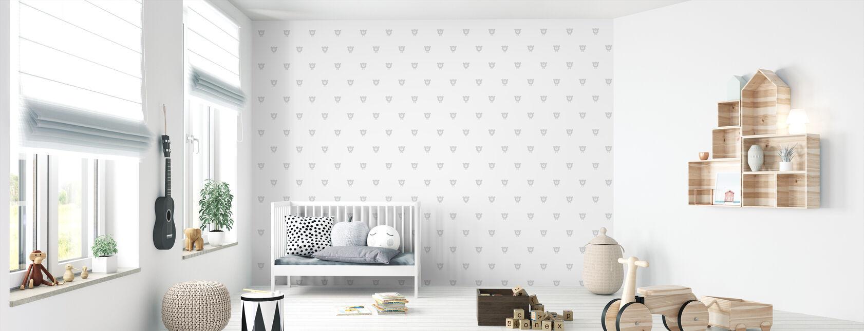 Chester - Grey - Wallpaper - Nursery