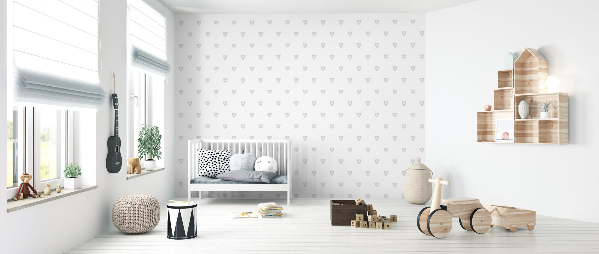 Chester - Grey - Wallpaper - Nursery
