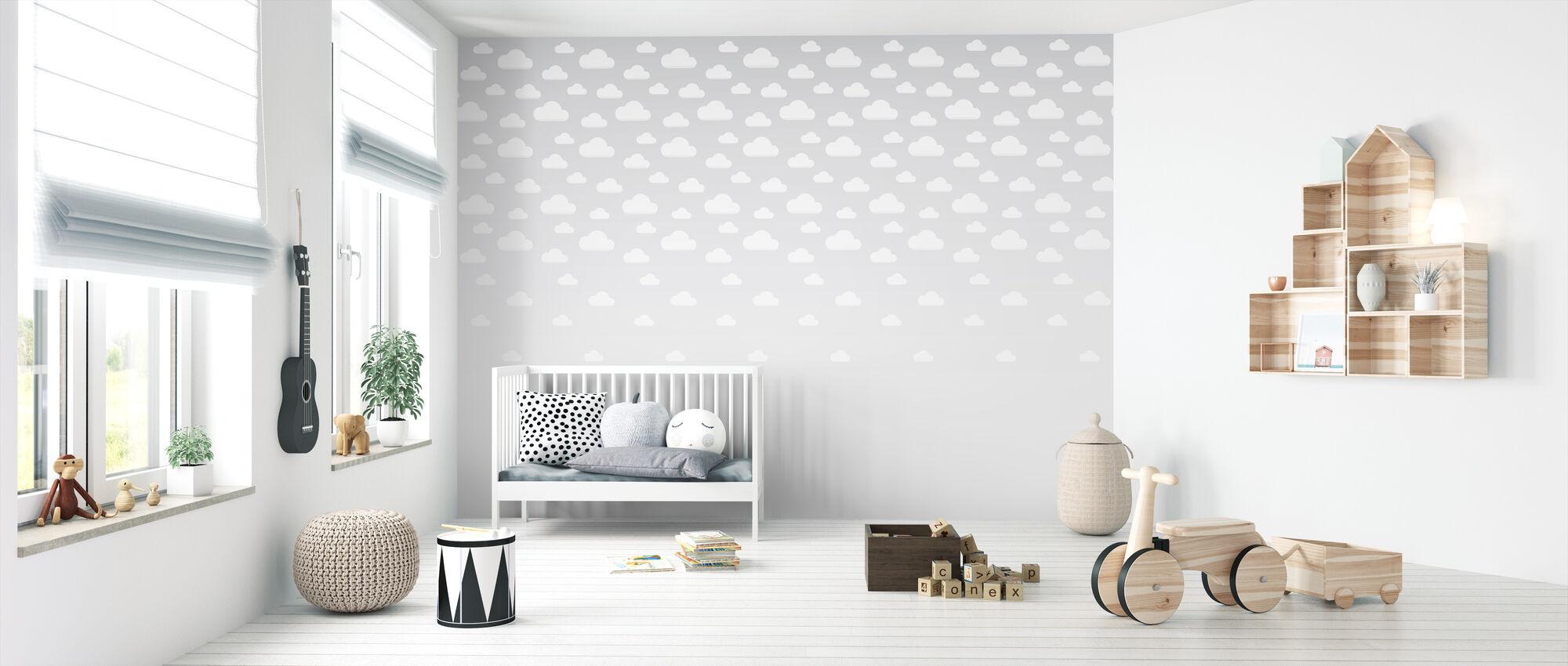 Cumulus - Grey - Wallpaper - Nursery