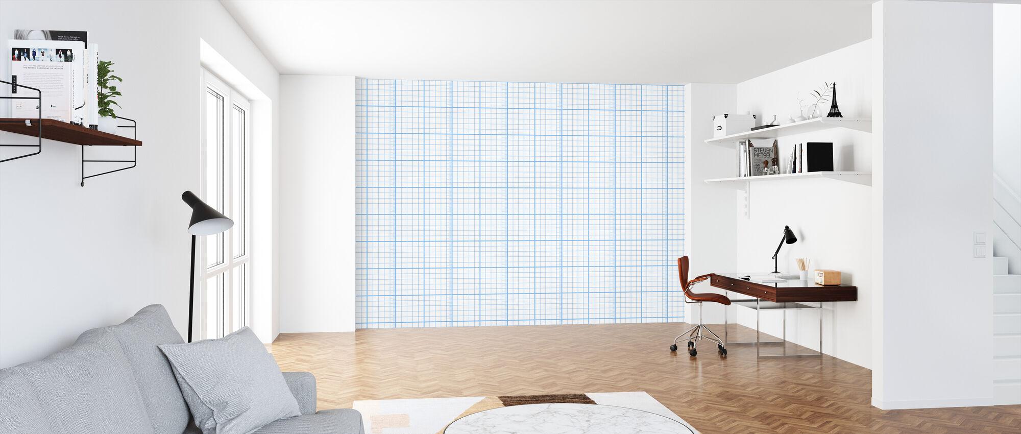 Kubik - Blue - Wallpaper - Office
