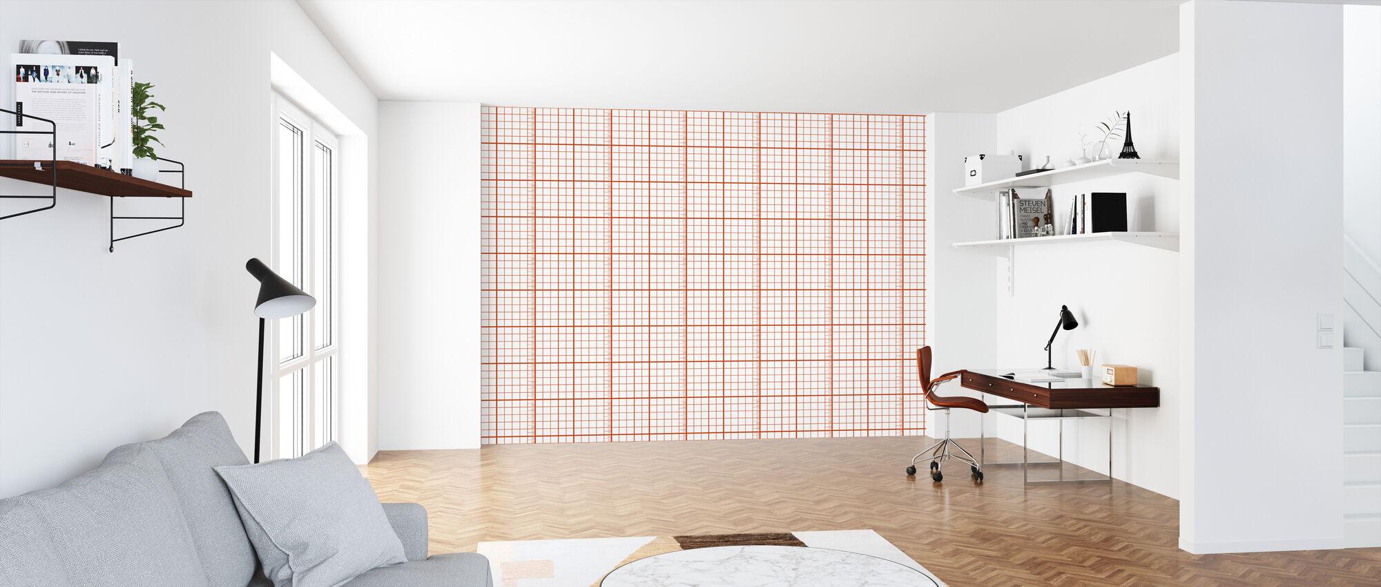 Kubik - Red - Wallpaper - Office