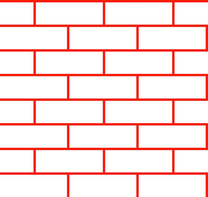 Tegel - White Red Fototapeter & Tapeter 100 x 100 cm