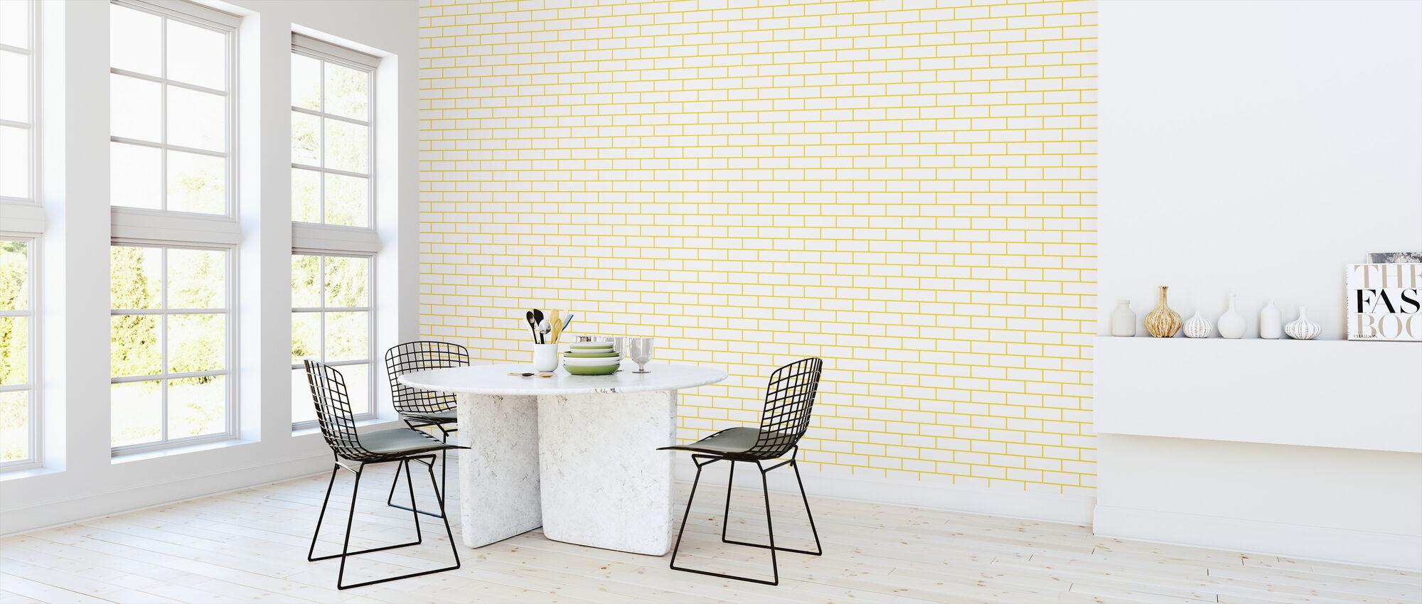 Tegel - White Yellow - Wallpaper - Kitchen
