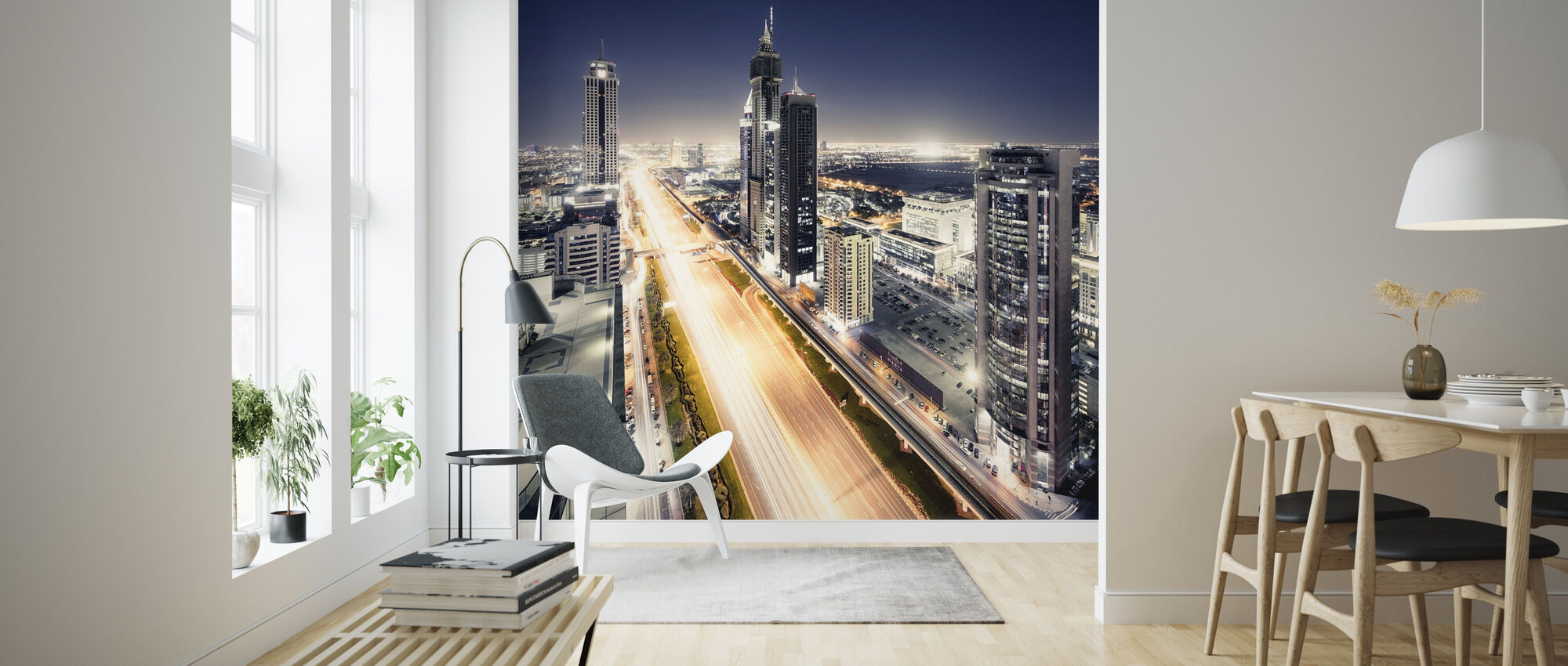 Dubai by Night - Wallpaper - Living Room
