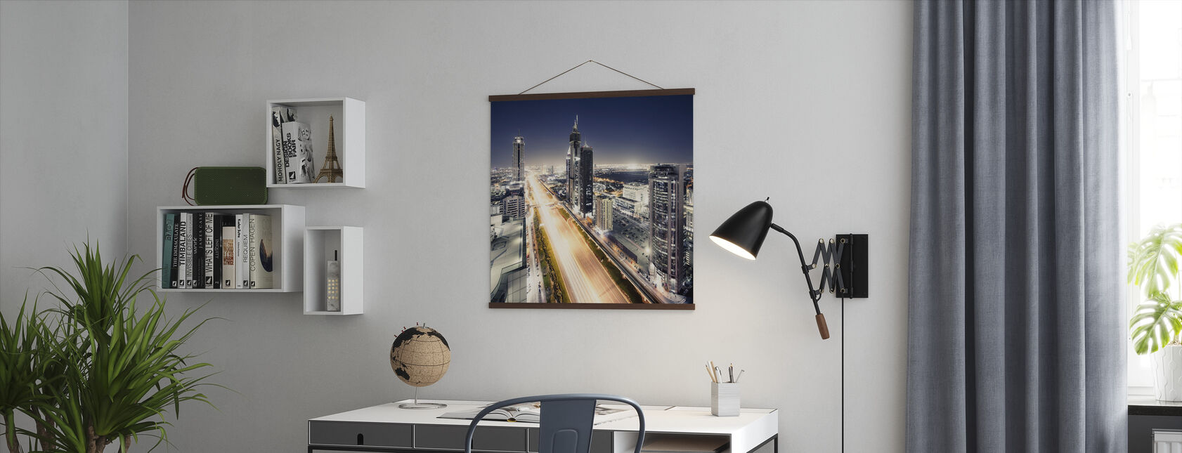 Dubai by Night - Poster - Office