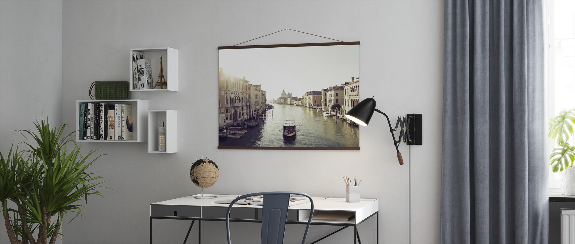 Taxi Boat on Grand Canal - Poster - Office
